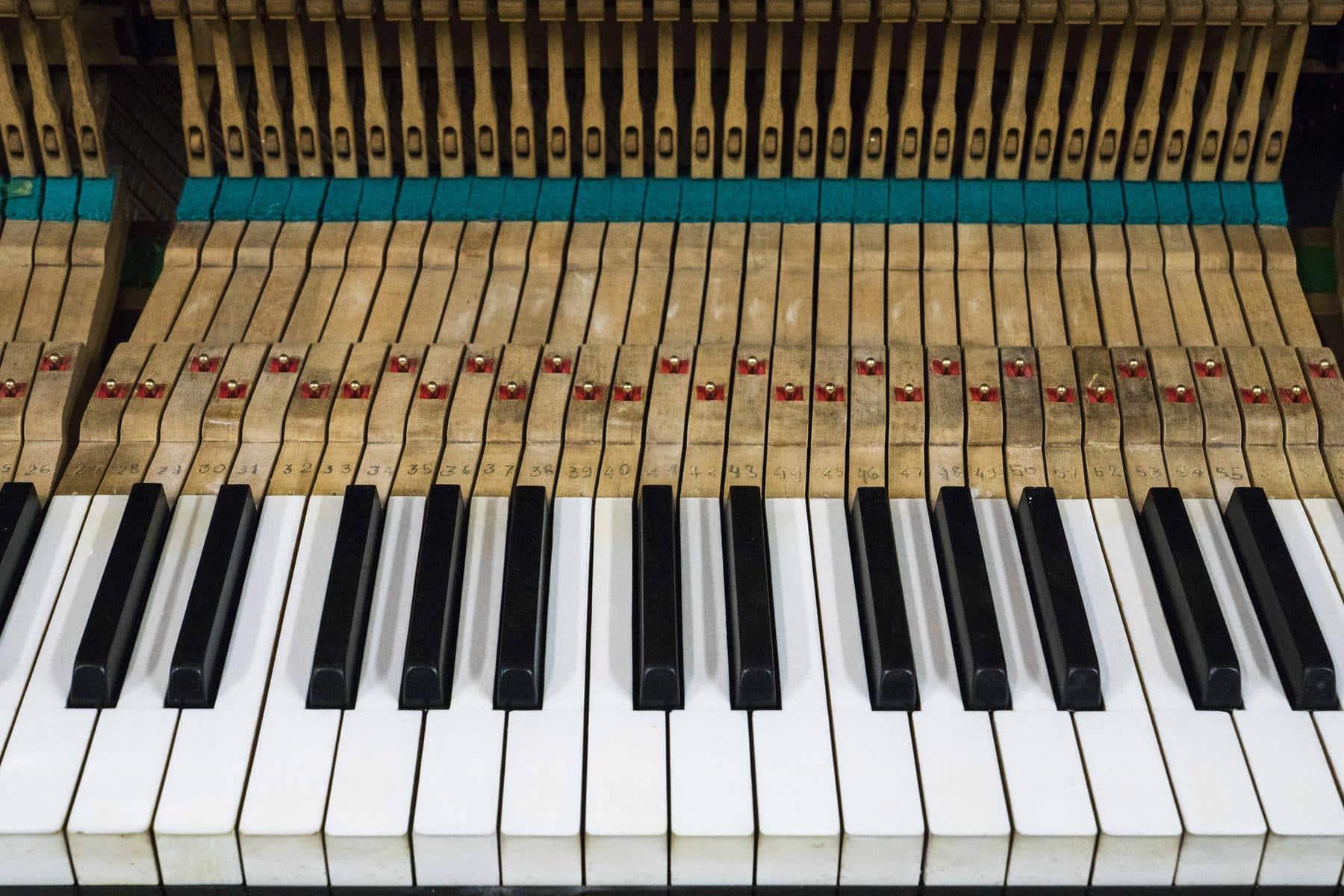 réglage clavier de piano