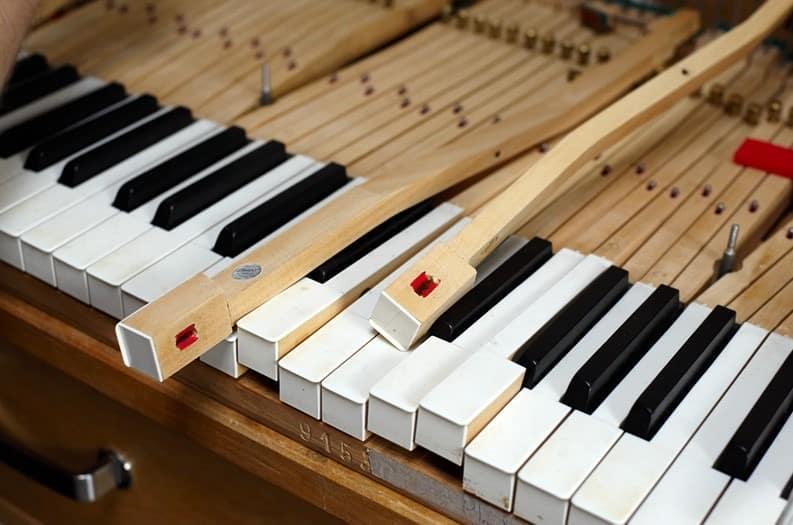 touches de clavier de piano