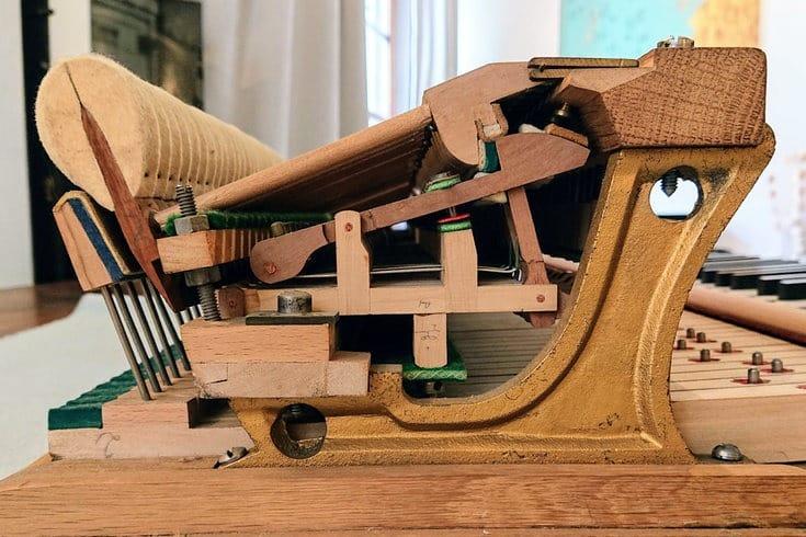 Mécanique de piano Pleyel de 1938