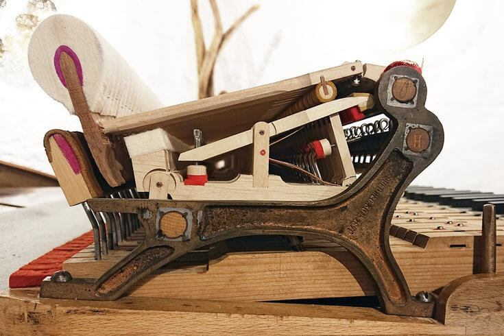 Mécanique de piano Steinway 1902